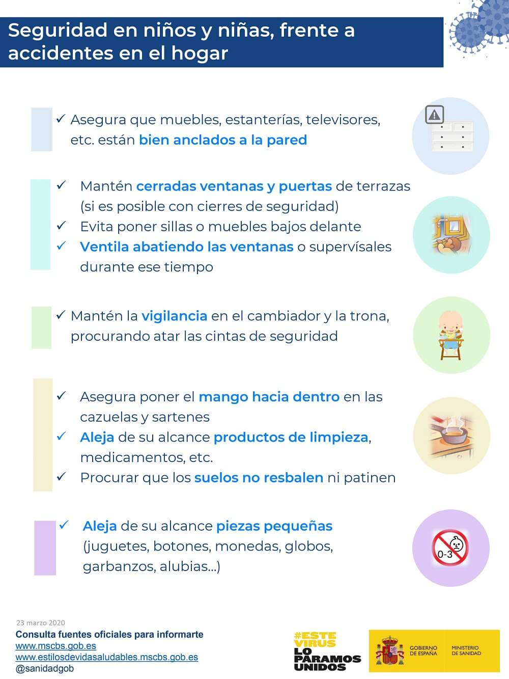 COVID19 prevencion accidentes ninos