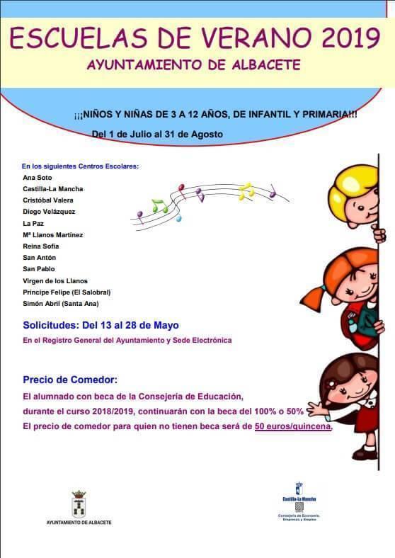 Escuelas de Verano 2019 del Ayuntamiento de Albacete