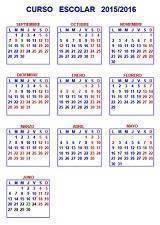Calendario escolar 2015/2016 de España por Comunidades Autónomas