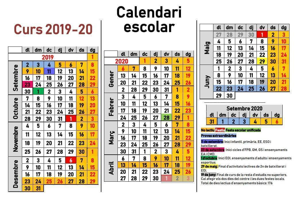 Calendario 2019 Escolar 2020 Madrid.Calendario Escolar 2019 2020 En Islas Baleares