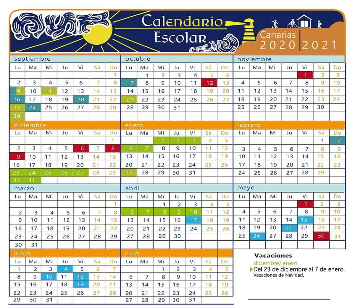 Calendario Bolsa Familia 2019 Final 8.Calendario Escolar 2019 2020 En Islas Canarias