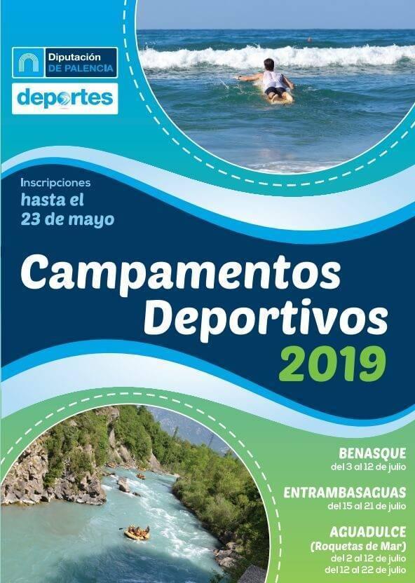 campamentos deportivos verano 2019 de diputacion de palencia