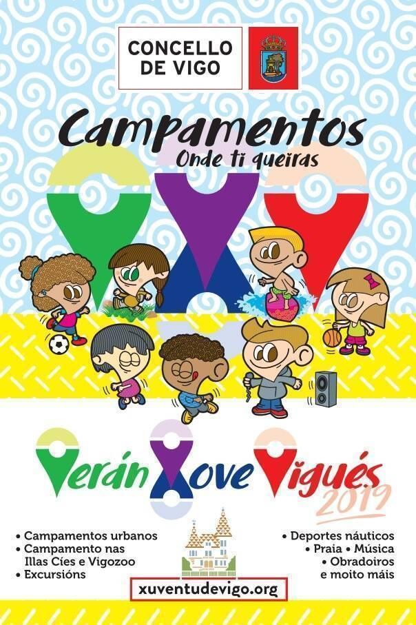 campamentos programa veran xove 2019 del concello de vigo