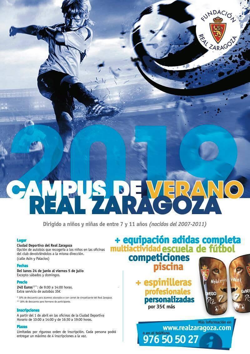 campus de verano 2019 real zaragoza