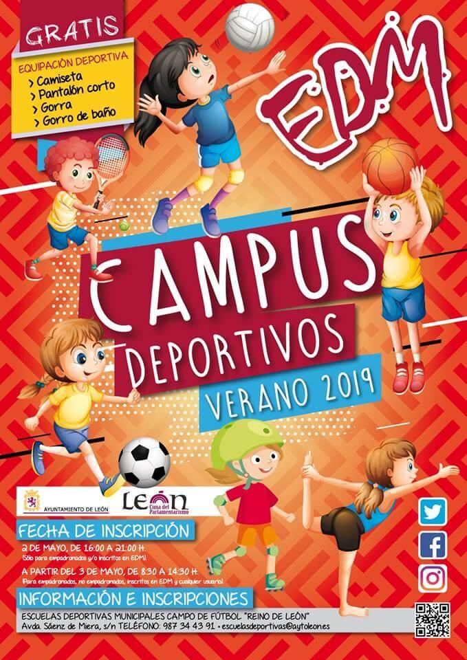 campus deportivos del ayuntamiento de leon en verano 2019