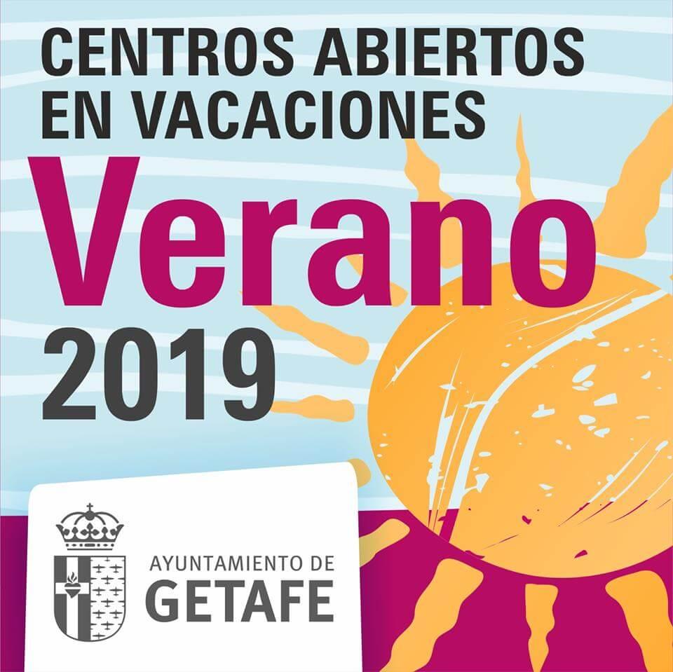 centros abiertos en vacaciones verano 2019 del ayuntamiento de getafe