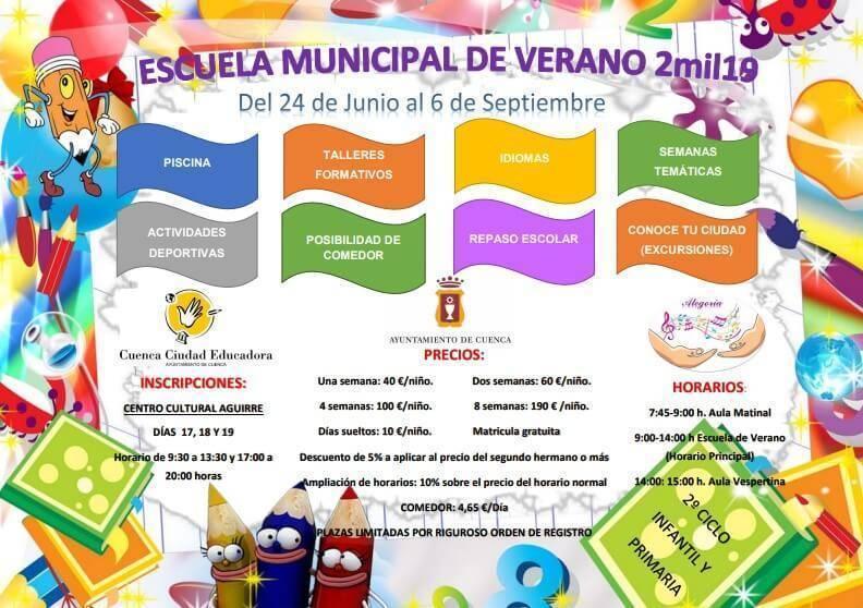 escuela de verano ayuntamiento de cuenca 2019