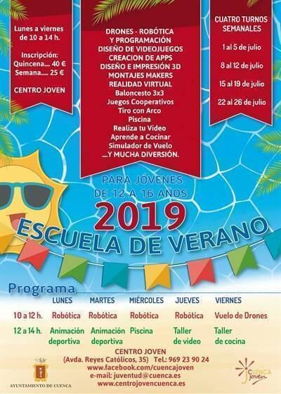 escuela de verano junior ayuntamiento de cuenca 2019