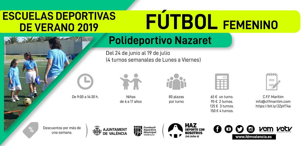 escuela deportiva 2019 futbol femenino natzaret