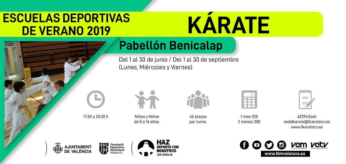 escuela deportiva 2019 karate benicalap