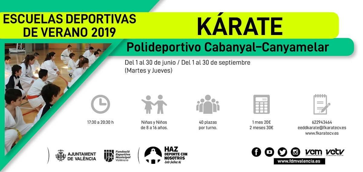 escuela deportiva 2019 karate cabanyal