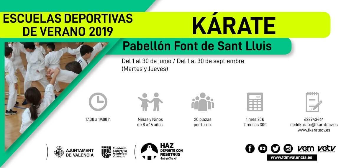 escuela deportiva 2019 karate san lluis